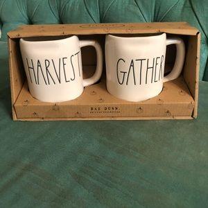 Rae Dunn harvest and gather mug set